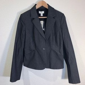 ANN TAYLOR LOFT STRIPED BLAZER JACKET
